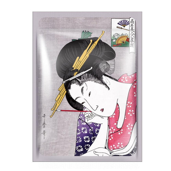 [TKJP00512-08-024]MITOMO Type 8 [JP UKIYOE trial set 24 sheets] Beautiful skin face mask - Made in Japan - Best gift to moisturize your skin.