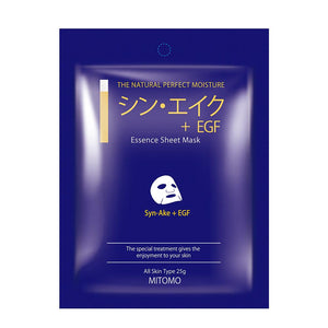 Japan MITOMO Syn-Ake + EGF Snowing Facial Essence Mask MC001-A-3