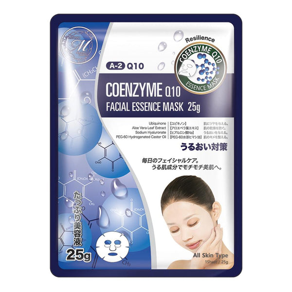 Japan MITOMO Natural Q10 Resilience Facial Essence Mask MT512-A-2