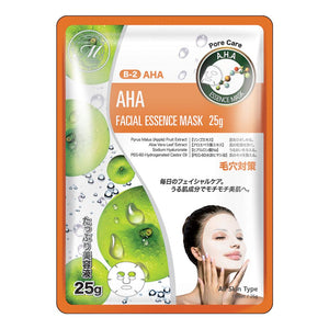 Japan MITOMO Natural AHA Pore Care Facial Essence Mask MT512-B-2
