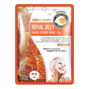 Japan MITOMO Natural Royal Jelly Cleanliness Facial Essence Mask MT512-E-0