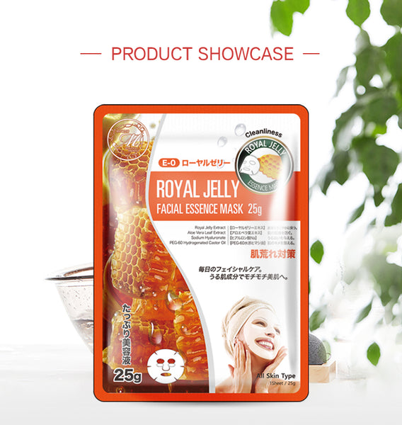 Natural Royal Jelly Cleanliness Japan Facial Essence Mask MT512-E-0
