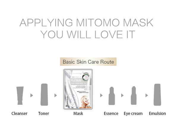 Japan MITOMO Natural Platinum Nutrition Facial Essence Mask MT512-E-5