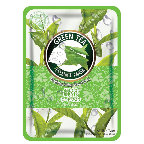 MITOMO Natural Green Tea Moisturizing Soothing Facial Essence Mask MT612-A-0