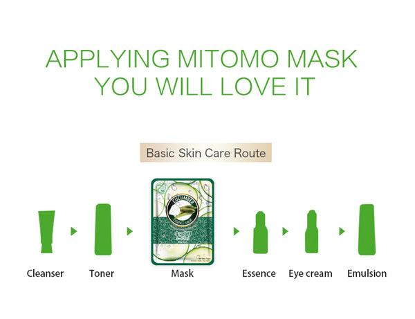 Natural Cucumber Moisturizing Soothing Japan Facial Essence Mask MT612-A-1