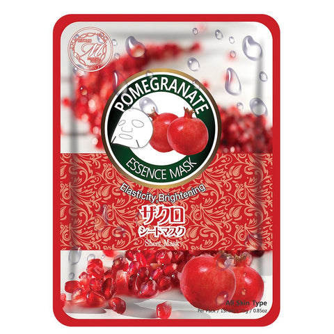 Natural Pomegranate Brightening Vibrancy Japan Facial Essence Mask MT612-B-6