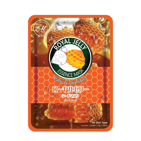 MITOMO Natural Royal Jelly Elasticity Cleanliness Facial Essence Mask MT612-B-8