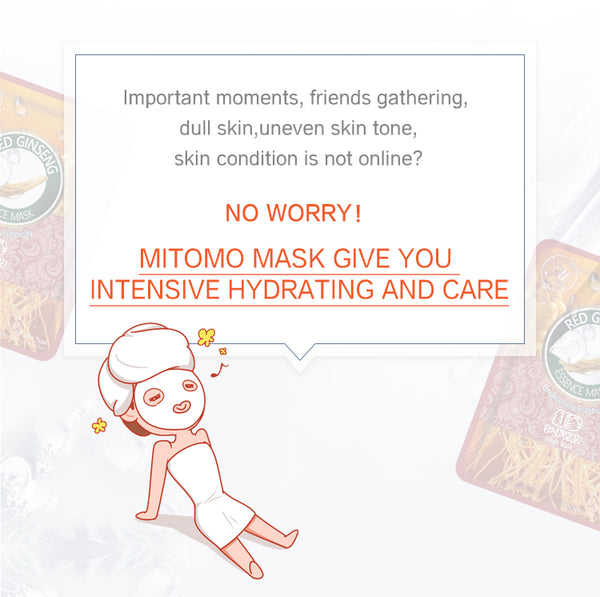 Natural Red Ginseng Elasticity Brightening Japan Facial Essence Mask MT612-C-9