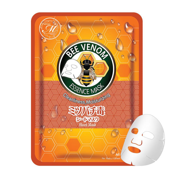 Natural Bee Venom Cleanliness Moisturizing Japan Facial Essence Mask MT612-E-1
