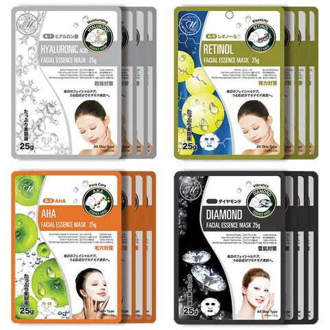 Mitomo Facial Pore-Tightening Skincare Beauty Face Mask Sheet bundles: 4 types – 16 packs - Mitomo America