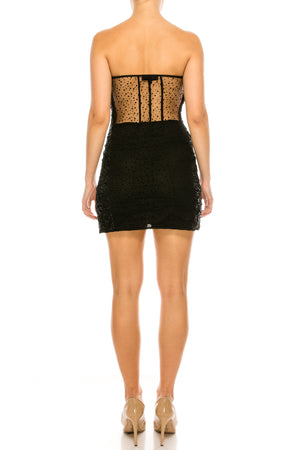 Sheer Gothic Mini Dress