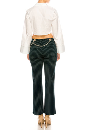 Lacey Pinstripe Pant