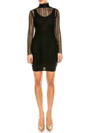 Mesh High Neck Mini