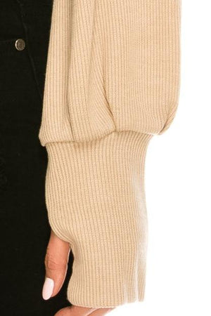 Chunky Knit Crop Turtleneck