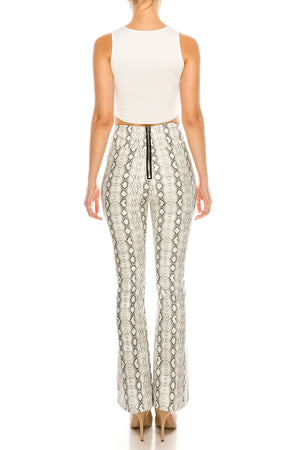 Snakeskin Patterned Trousers