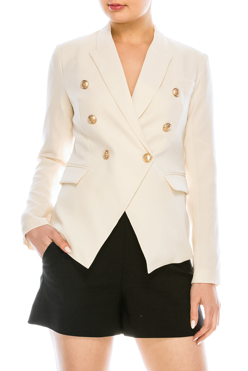 Double Breasted Dressy Blazer