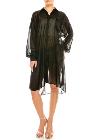 Oversized Organza Shirt