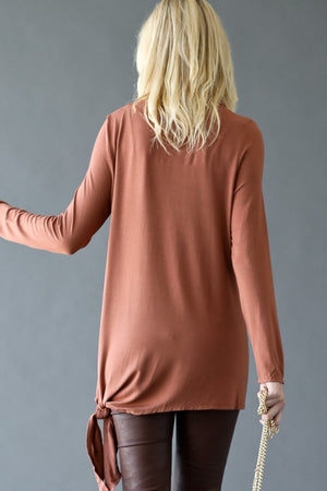 Cowl Neck Side Side Ties Tunic Top