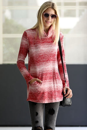 Long Sleeve Turtleneck Knit Casual Top
