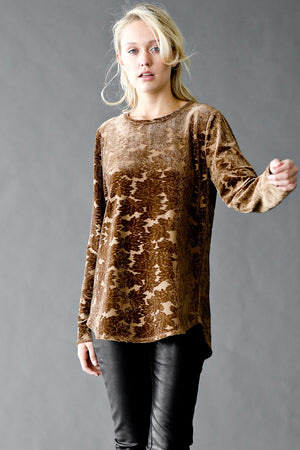 Burned Out Fine Velvet Leaf Top