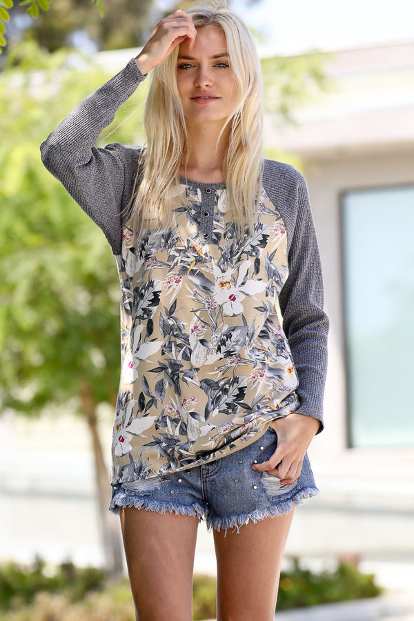 Wildflower Thermal Knit Top