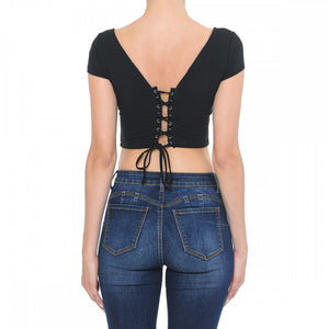 Amy Back Lace Up Top