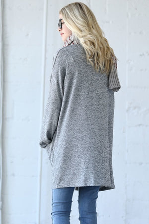 Bell Sleeve Knit Cardigan Duster