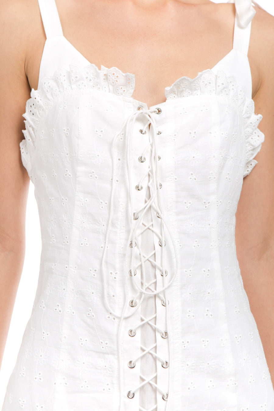 Lace Up Corset Dress