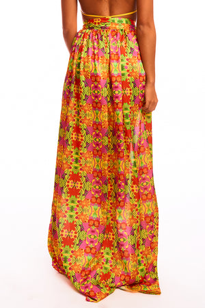 The Selene Skirt - Tropical Yellow Print