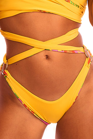 The Athena - Reversible Tropical Yellow Print