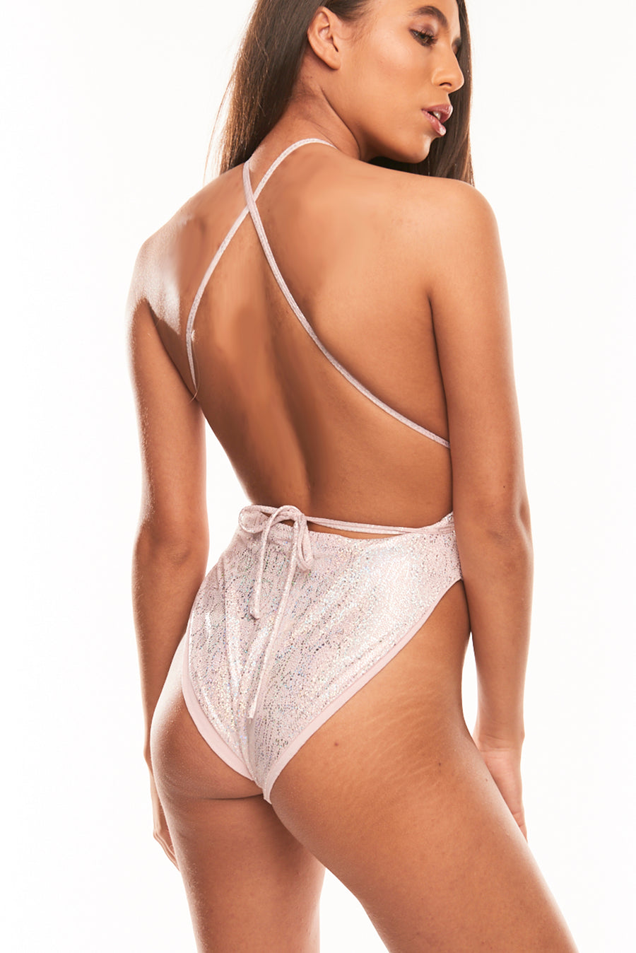 The Atiya One Piece - Light Pink Hologram