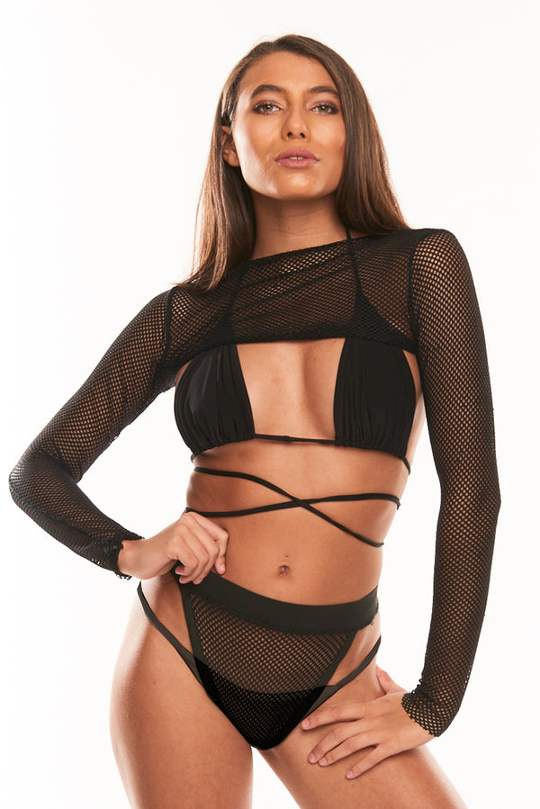The Aysha Mesh Combo - Black
