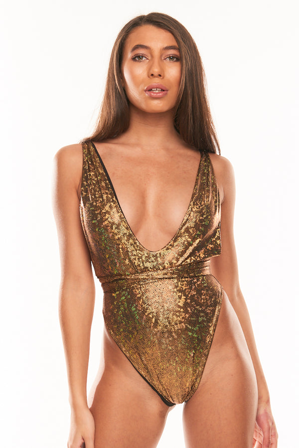 The Muna One Piece - Reversible Gold Hologram