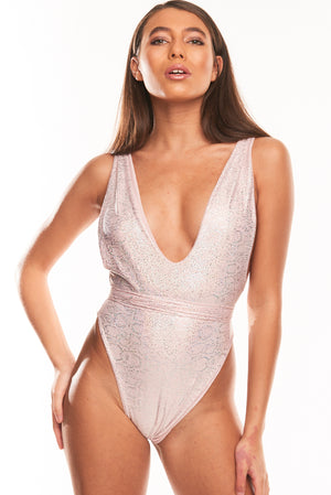 The Muna One Piece - Light Pink Hologram