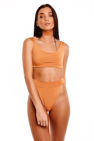 The Meilani Swim With Choker - Golden Yellow