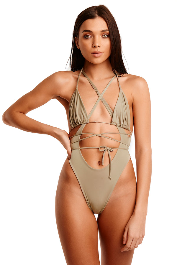 The Tahiti Two Piece - Olive Green