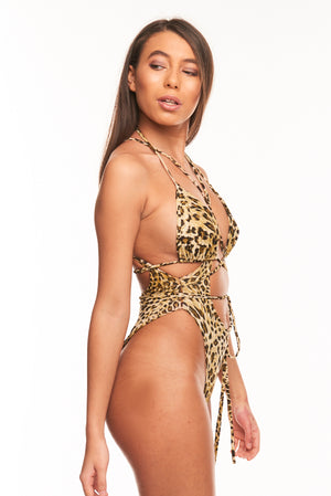 The Tahiti Two Piece - Leopard