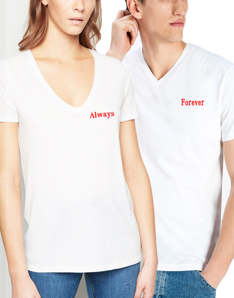 ALWAYS BASIC LOVE T-SHIRT V YAKA