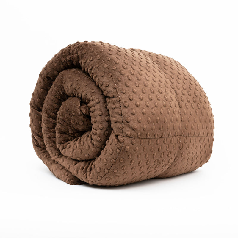 Brown Minky Weighted Blanket