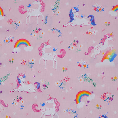 Unicorn Weighted Blanket Rolled Side View