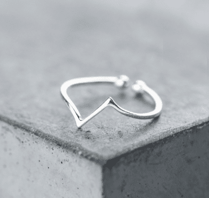 Sterling Silver Angular Ring