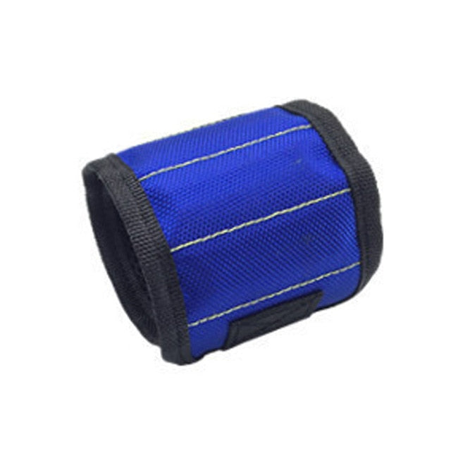 Magnetic Wristband for tools blue
