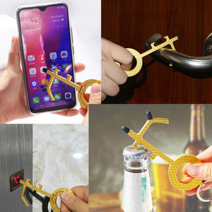NEW No Touch Keychain With Phone Holder