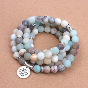 108 Natural Stone Mala Bracelet/Necklace