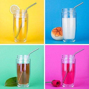 Reusable Stainless Steel Drinking Straws (Pack of 6)