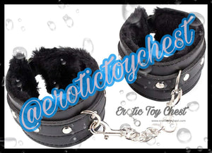 Faux Leather-Fur Handcuffs