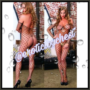 Intriguing Fishnet Bodystocking (Plus Size Available)