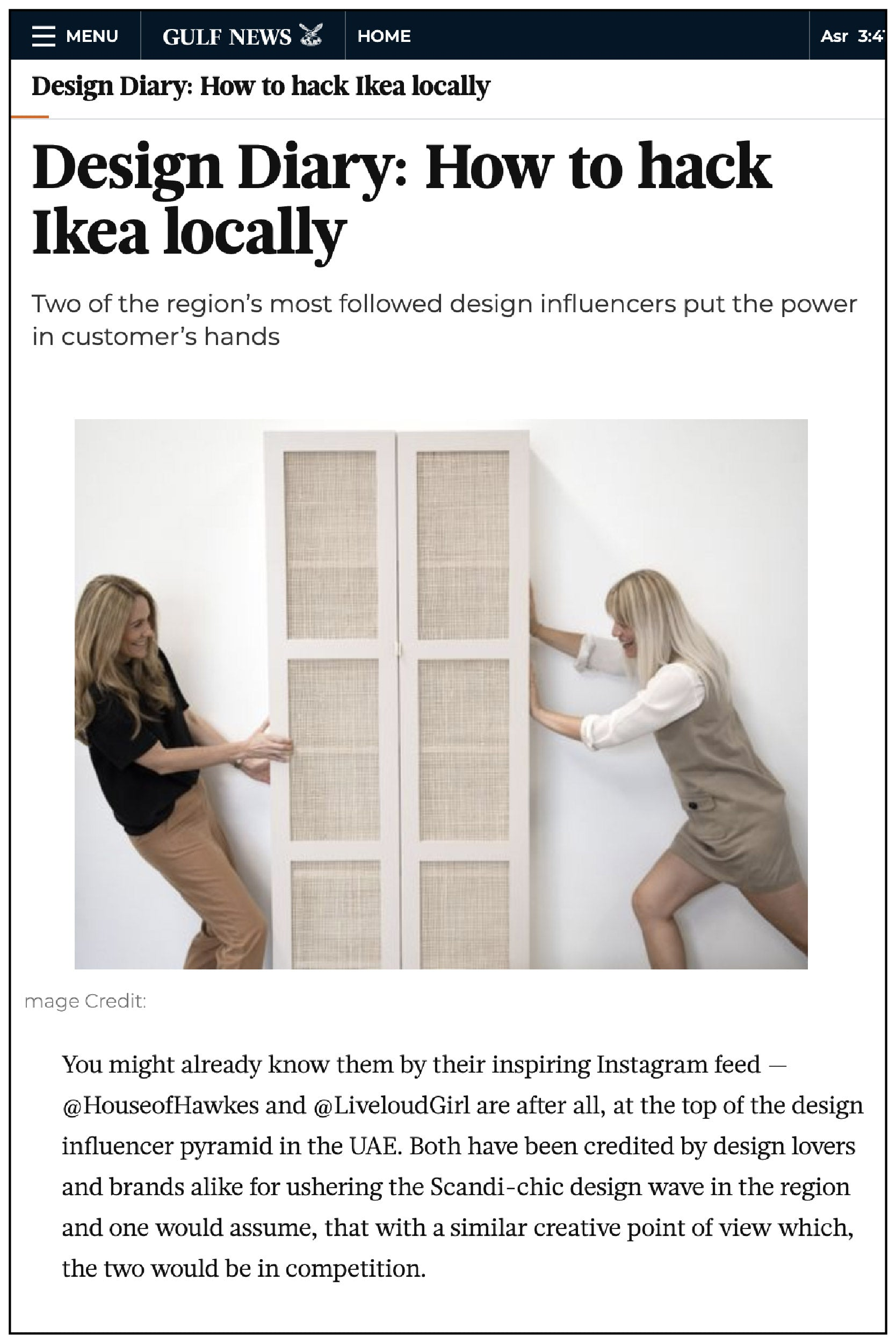 Gulf News feature fronteriors ikea hack