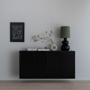 Photoshoot Flash Sale | Metod 160x80cm Framed black cabinet (with top & sides)