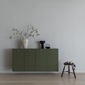 Metod 160x80cm Basic cabinet (with top, sides & Brass Knobs)